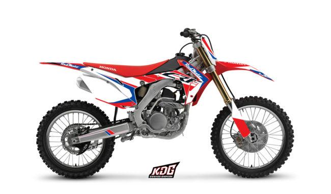 Kit déco motocross - Red moto - Honda 250 CRF 2014 à 2016