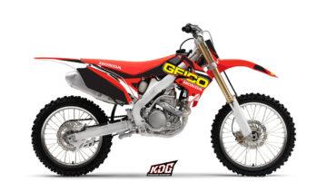 Kit déco motocross - Replica Geico - Honda 250 CRF 2010 à 2013 et 450 CRF 2009 à 2012