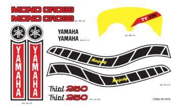 Kit Stickers Yamaha 250 TY 59N