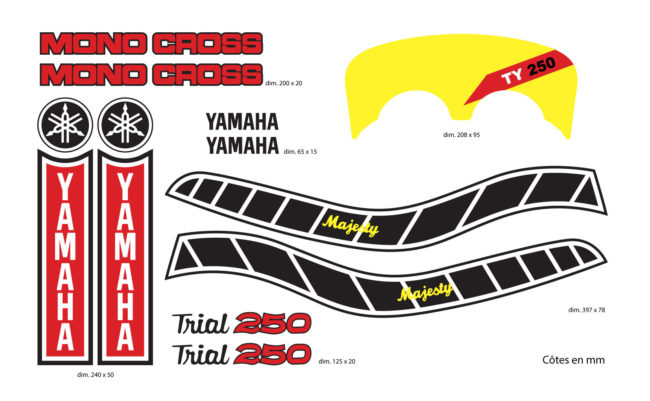 Kit Stickers Yamaha 250 TY 59N