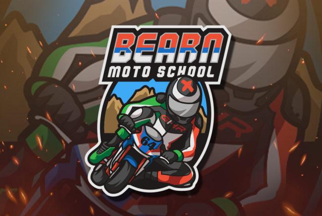 Mascotte personnalisée moto sportive