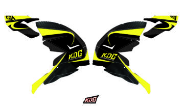 Kit déco casque motocross Black and fluo - Airoh Terminator