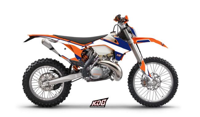 Kit déco enduro Bull - KTM 300 EXC 2011 à 2013