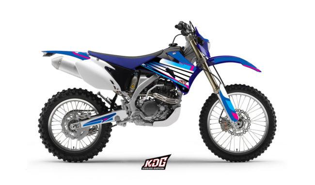 Kit déco enduro Factory Yam - Yamaha 250 WRF 2007 à 2014