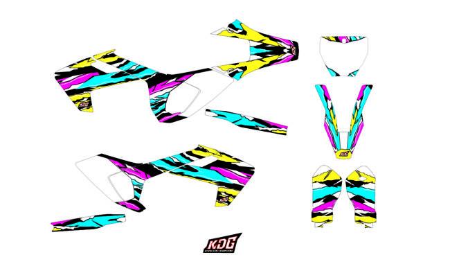 Kit déco Motocross - Hart - Husqvarna 125-250-450 FC 2016