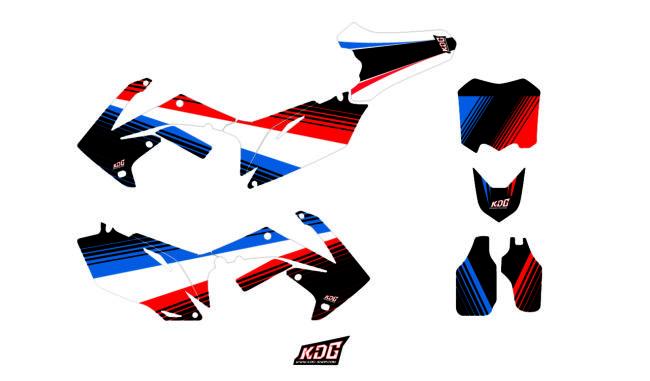 Kit déco motocross - Nations France - Honda CRF 250 2010 à 2013 et CRF 450 2009 à 2012