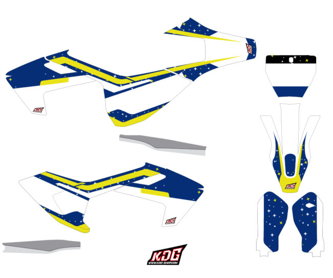 Kit déco motocross - Stars - Husqvarna TC FC 125-250-450 2016