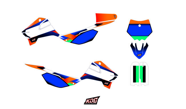 Kit déco moto pitbike - Replica Team KTM - Apollo Motors 150 RFZ
