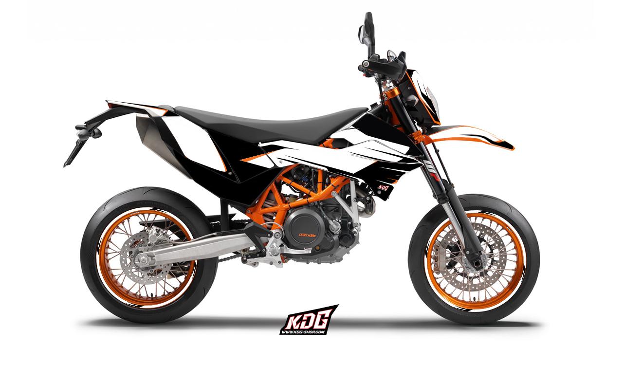 Kit déco moto supermotard , The Claw , KTM 690 SMC,R