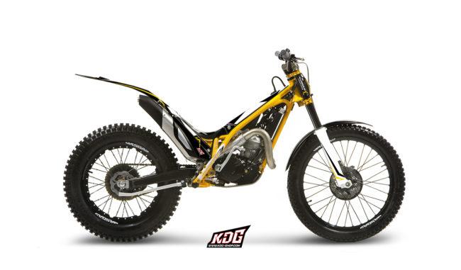 Kit déco moto Trial Dc Star - Gas Gas 300 TXT Pro
