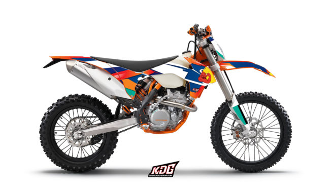 KIT DECO ENDURO - RED BULL - KTM EXC XC CF 2014 à 2016