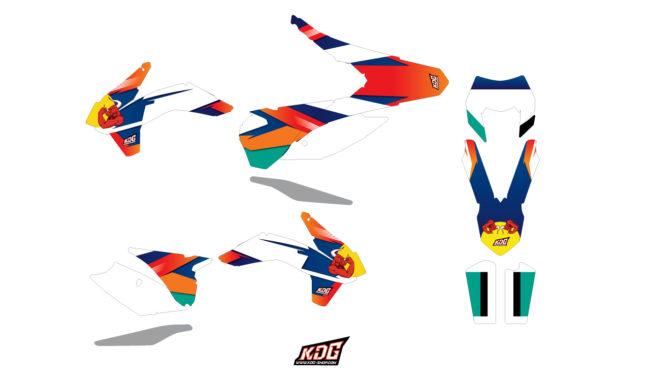 KIT DECO ENDURO - RED BULL - KTM EXC XC CF 2014 à 2016