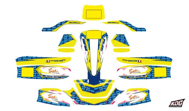 Kit déco karting Sodikart RS3 2019-20 - RFM Replica